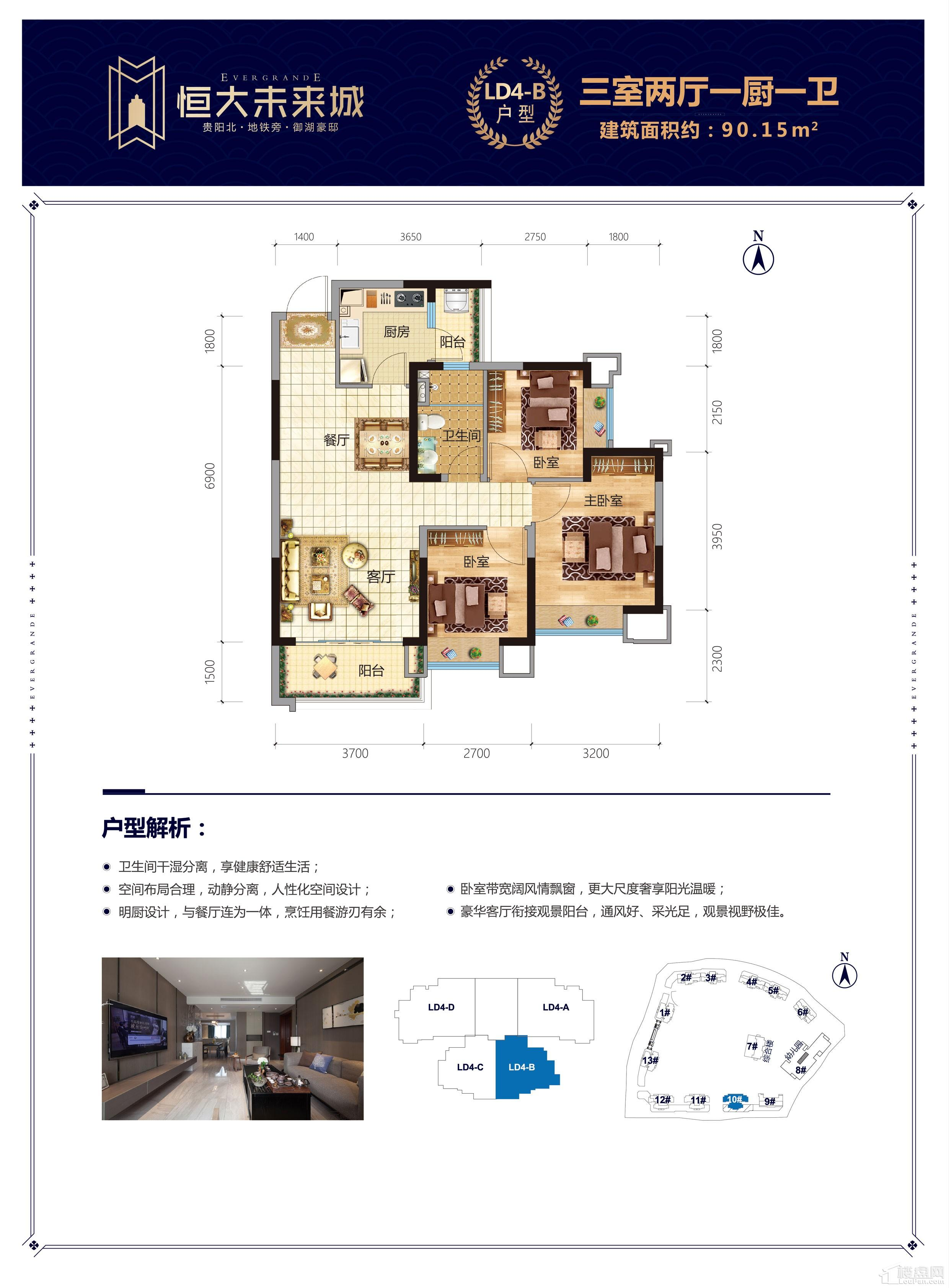 恒大未来城LD4-B户型