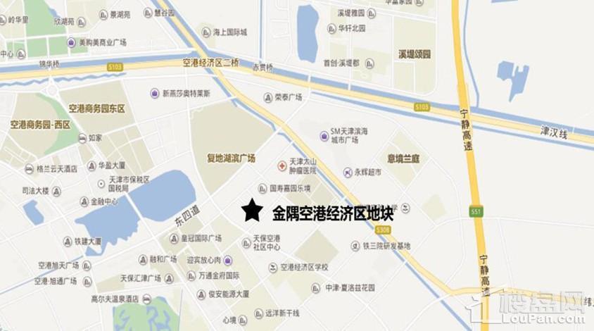 金隅空港经济区地块位置图
