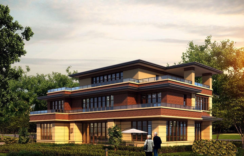 南湖9号屋顶平别墅农村设计图户型图片