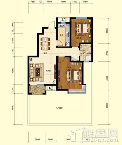 洋房1号楼标准层A1户型
