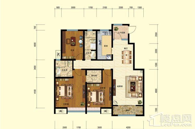 二期洋房6-8、10-11号楼标准层E户型