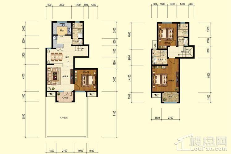 二期洋房6-8、10-11标准层F户型