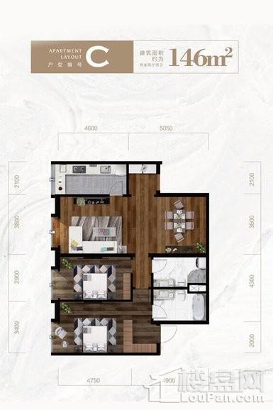 公寓标准层C户型