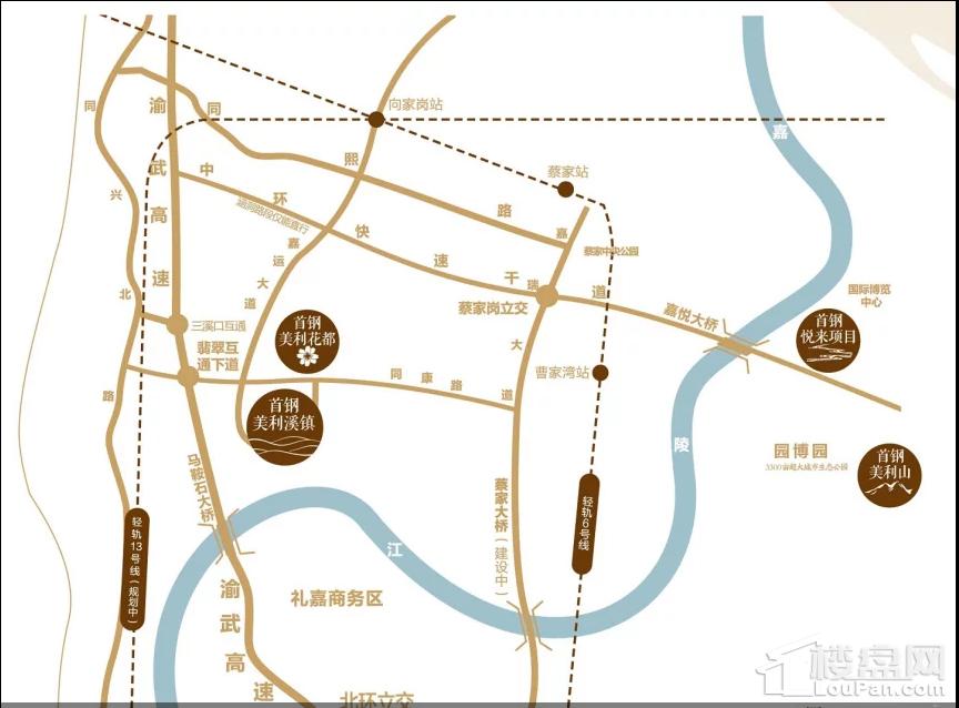 美利溪镇·玺悦位置图