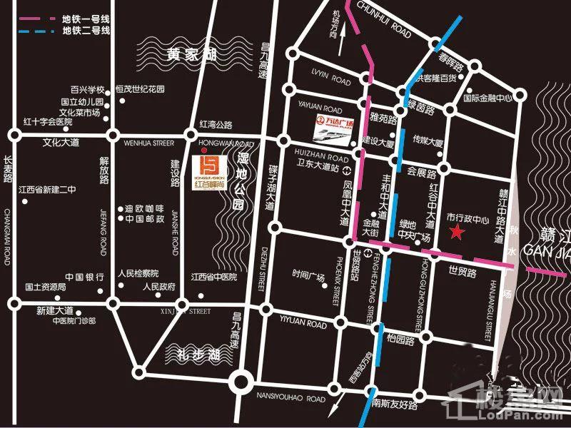 红谷峰尚位置图