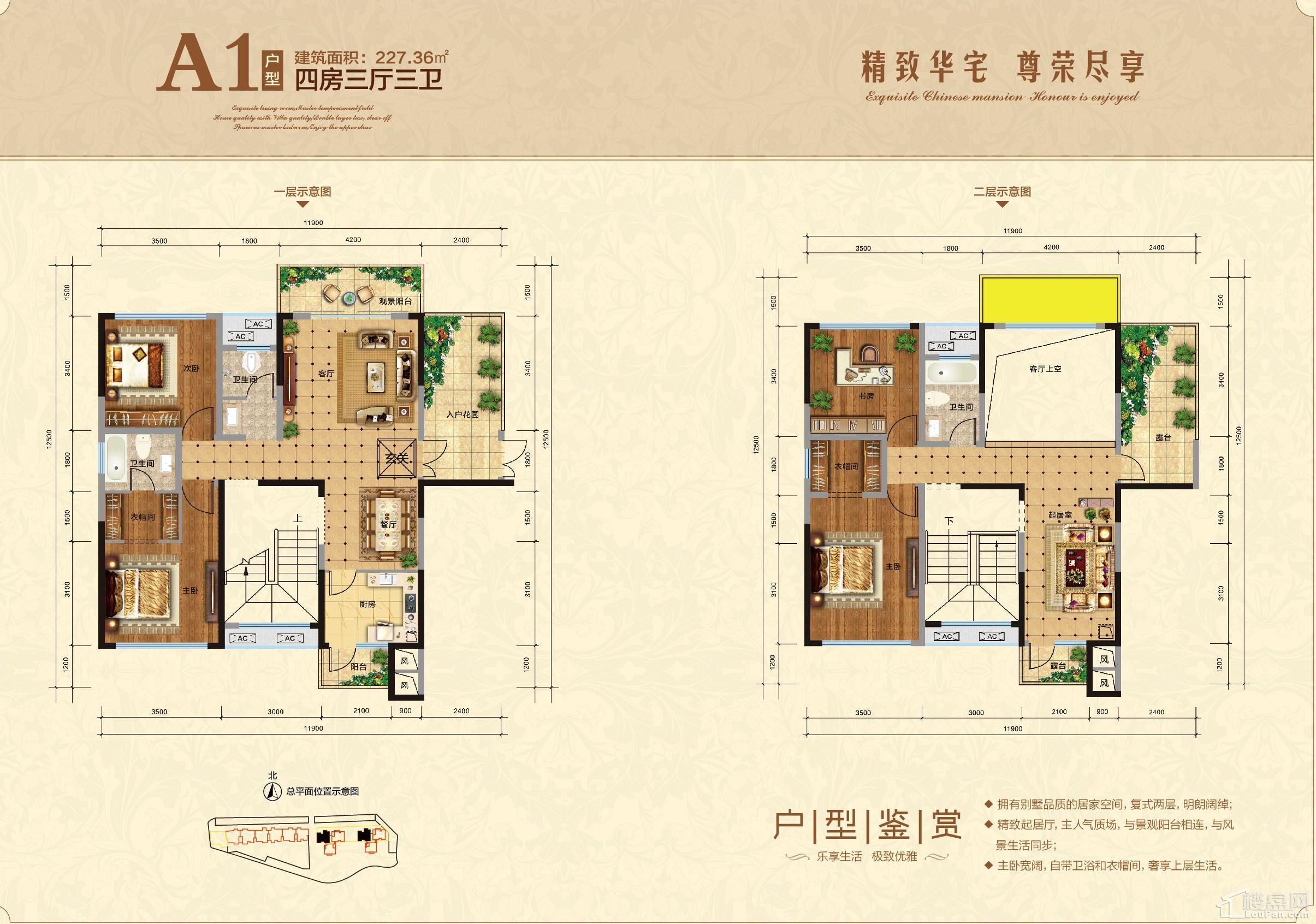 澧州金牛广场高层住宅A1户型(复式)