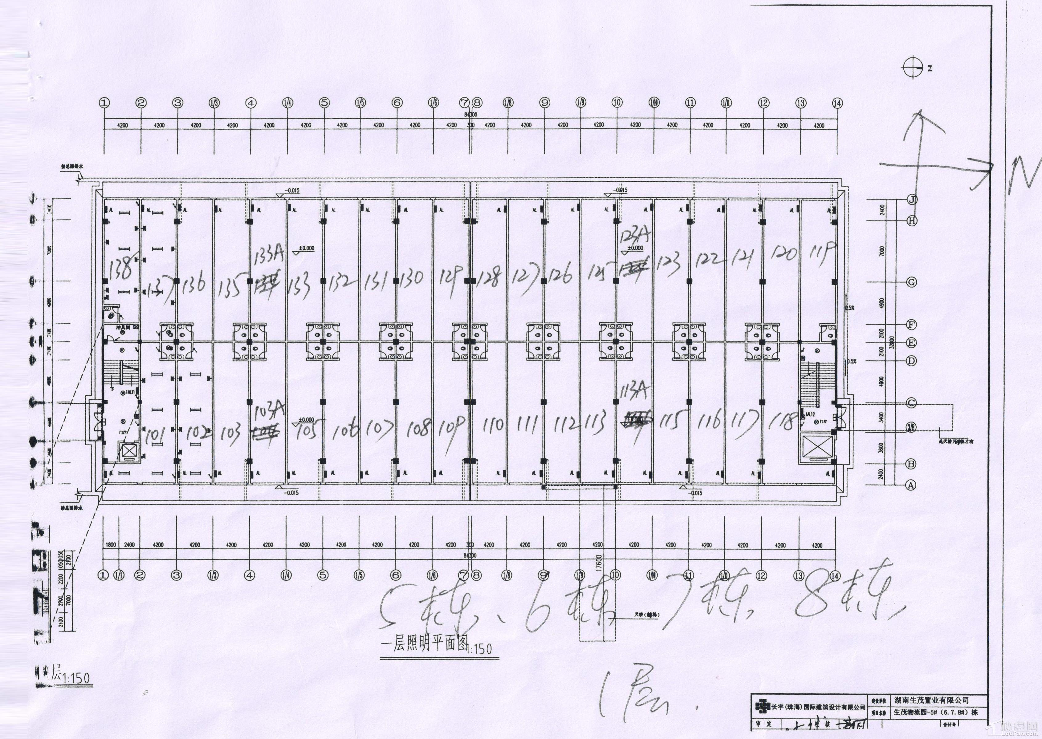 湘西北物流园5栋/6栋/7栋/8栋1层楼层平面图