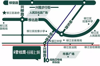 碧桂园·公园上城位置图