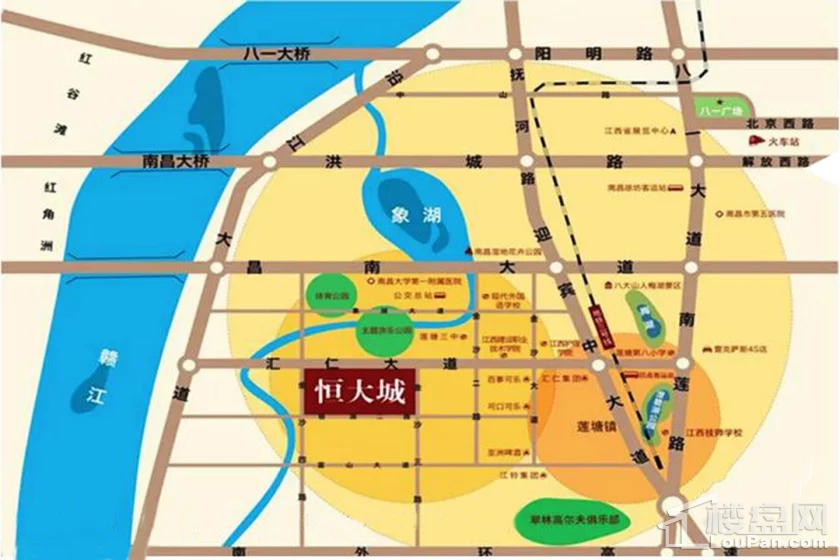 南昌恒大城位置图
