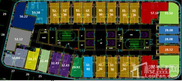 T2栋平层平面图