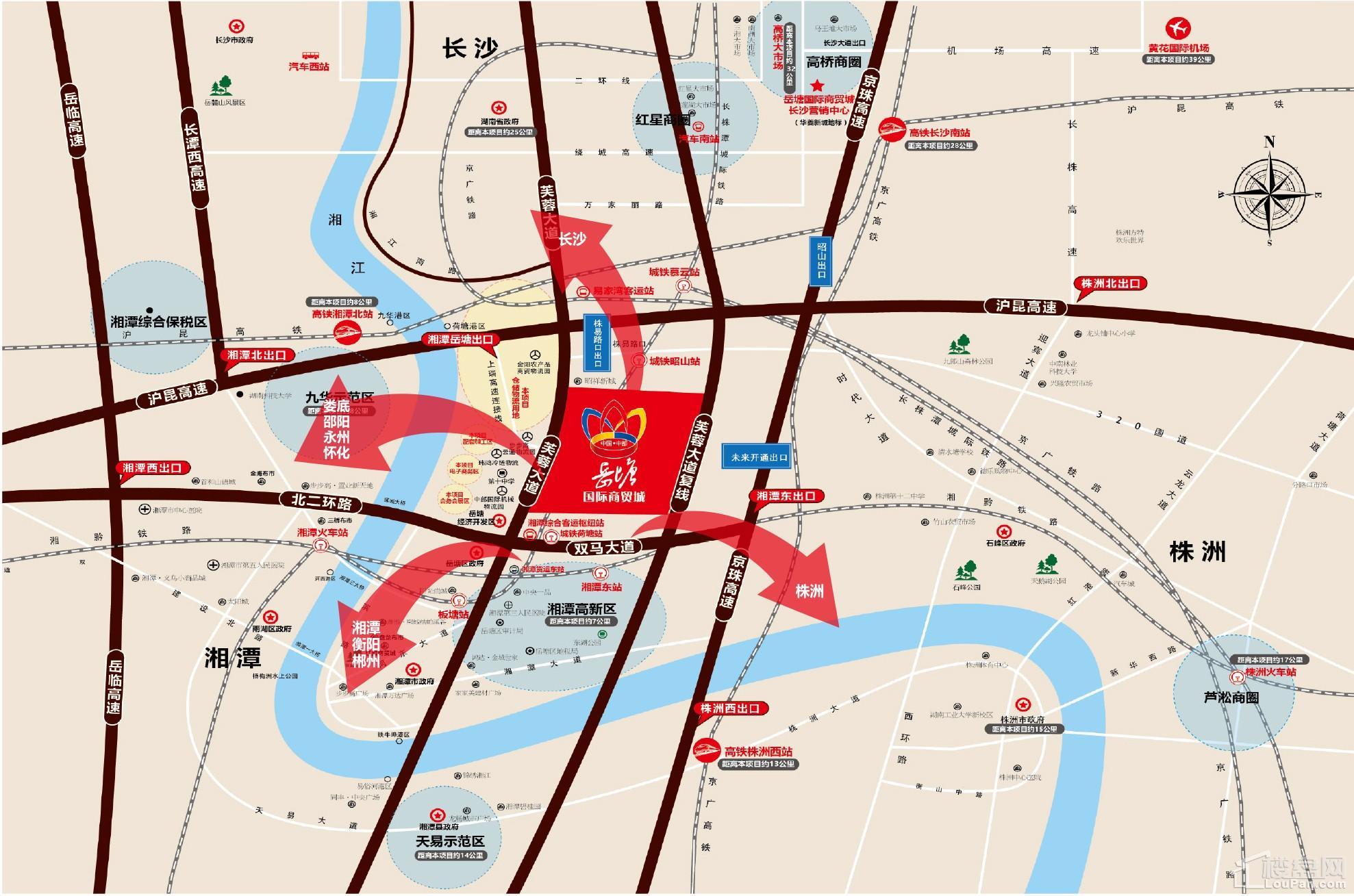 中国(中部)岳塘国际商贸城位置图