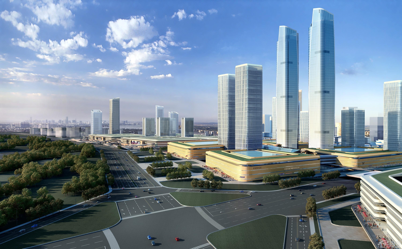 中国(中部)岳塘国际商贸城效果图
