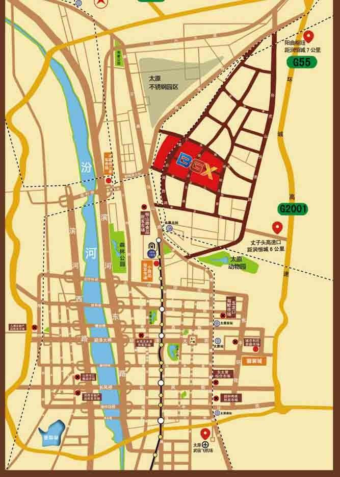 太原润恒城位置图