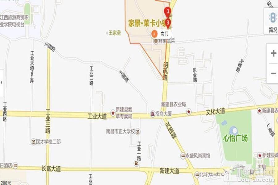 长堎集贸市场位置图
