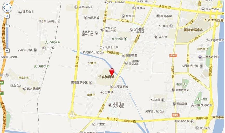 兰亭御湖城东区位置图