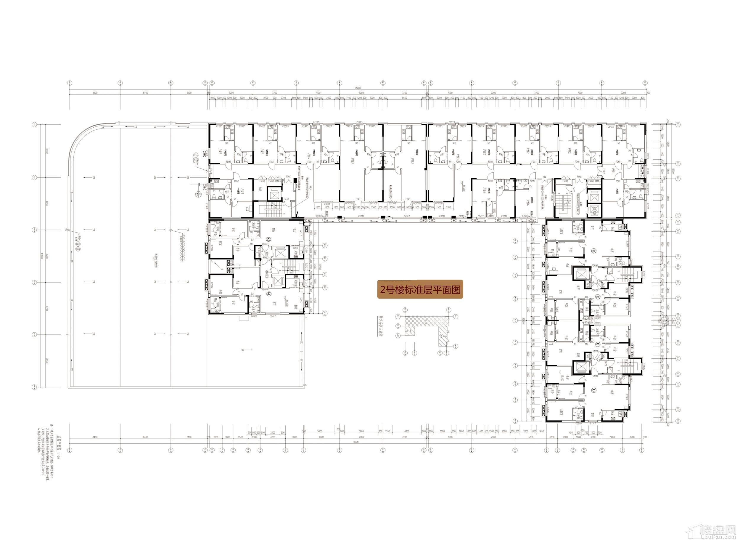 2号楼12层平面图