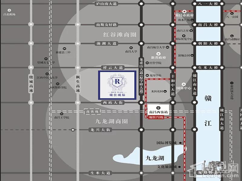 红谷瑞仕城际广场位置图