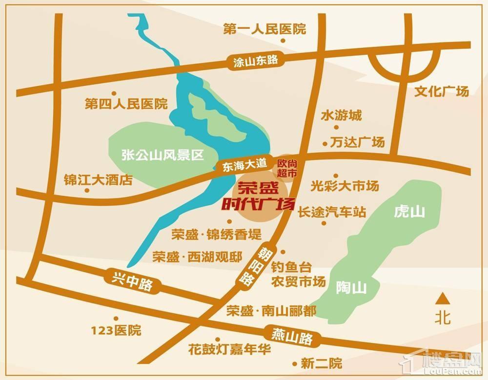 荣盛时代广场位置图