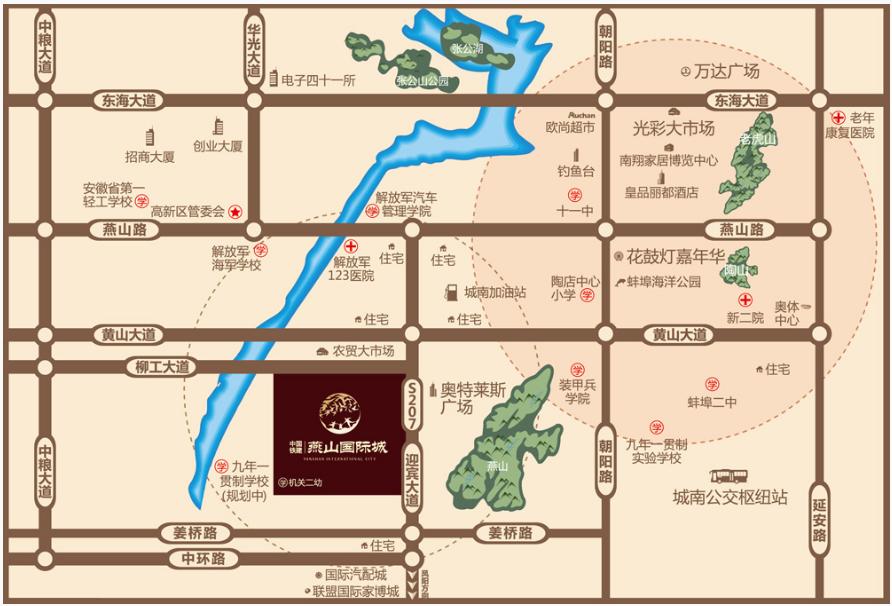 中铁燕山国际城位置图