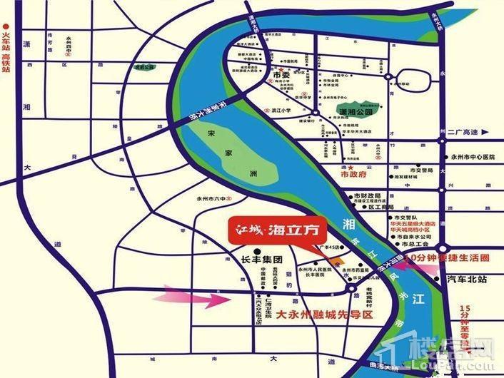 江城花园位置图