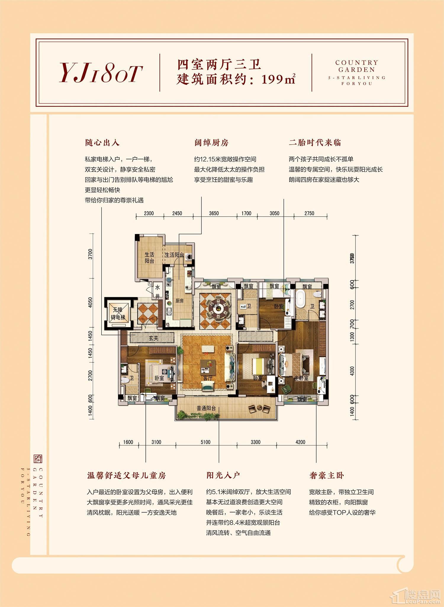 碧桂园·南平府YJ180T户型图