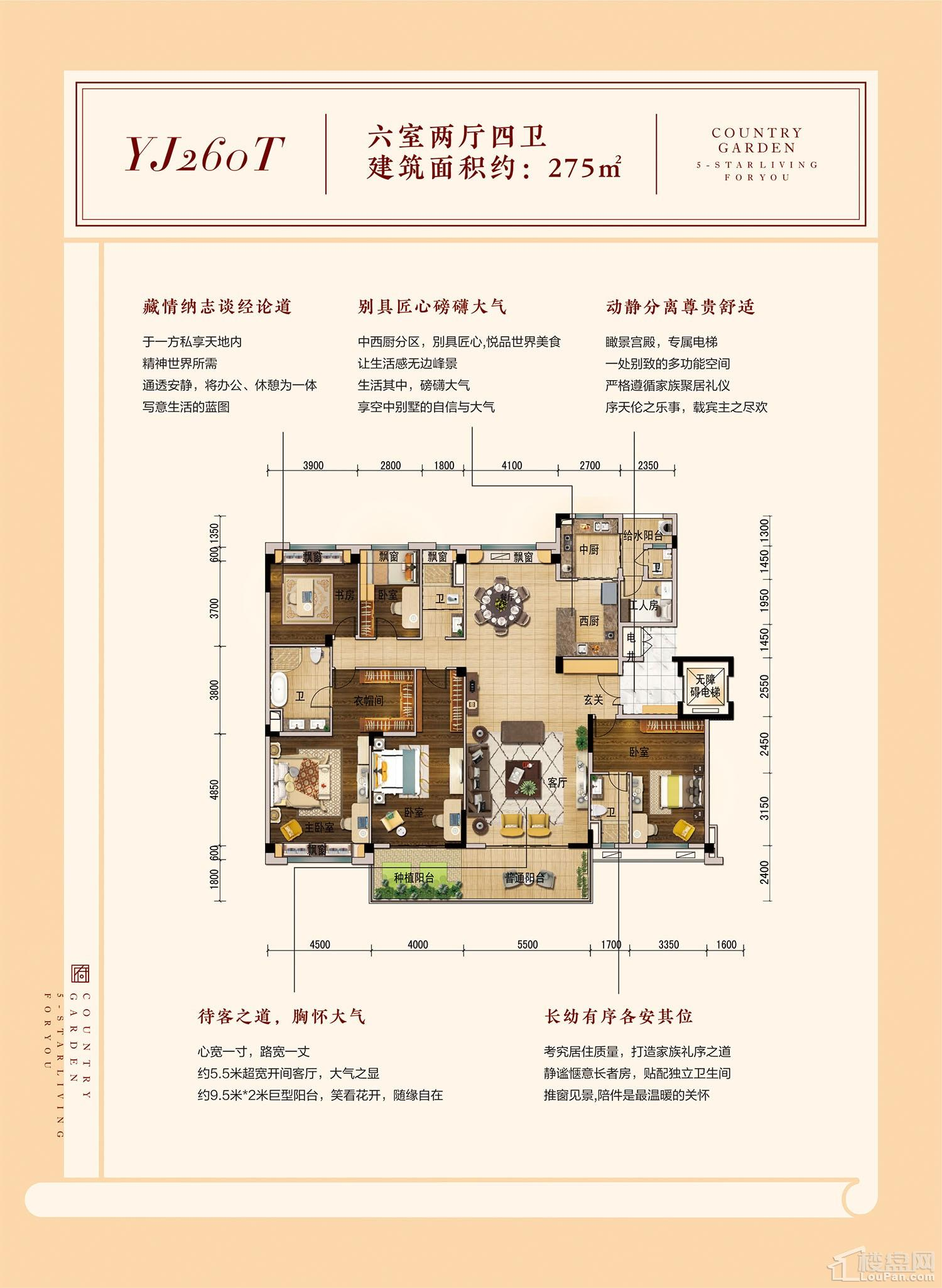 碧桂园·南平府YJ260T户型图