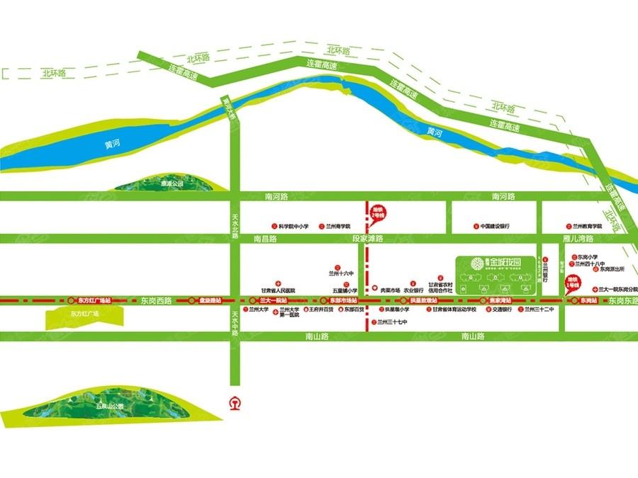 鹏博金城珑园位置图