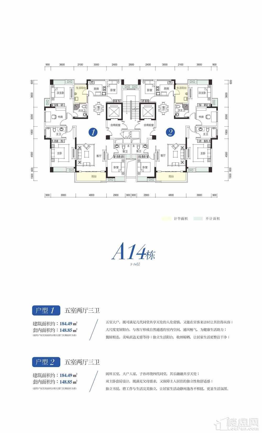 A14栋5-14层
