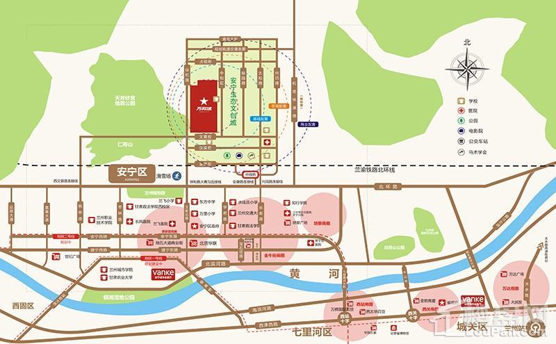 兰州万科城区位交通图