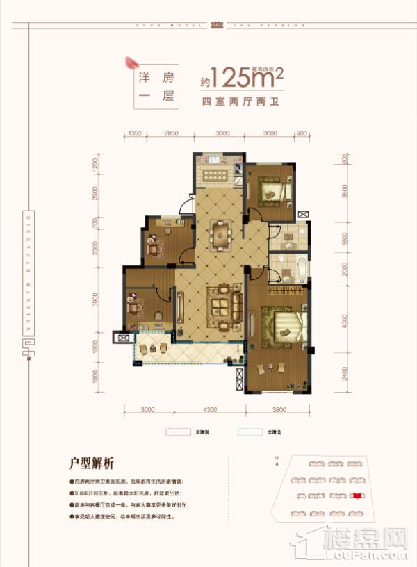 5#楼洋房一层户型