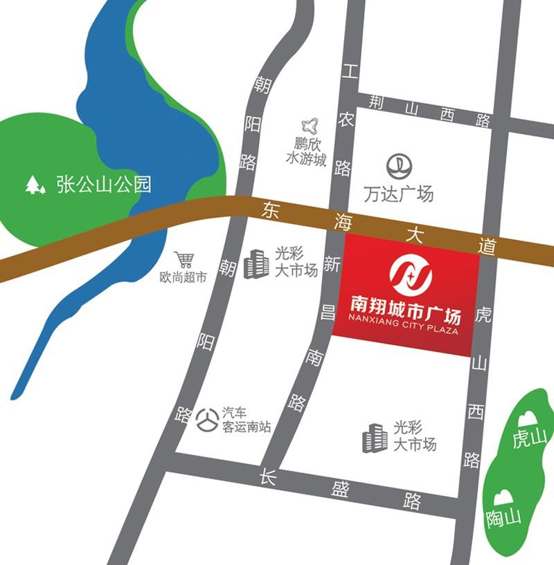 南翔城市广场位置图