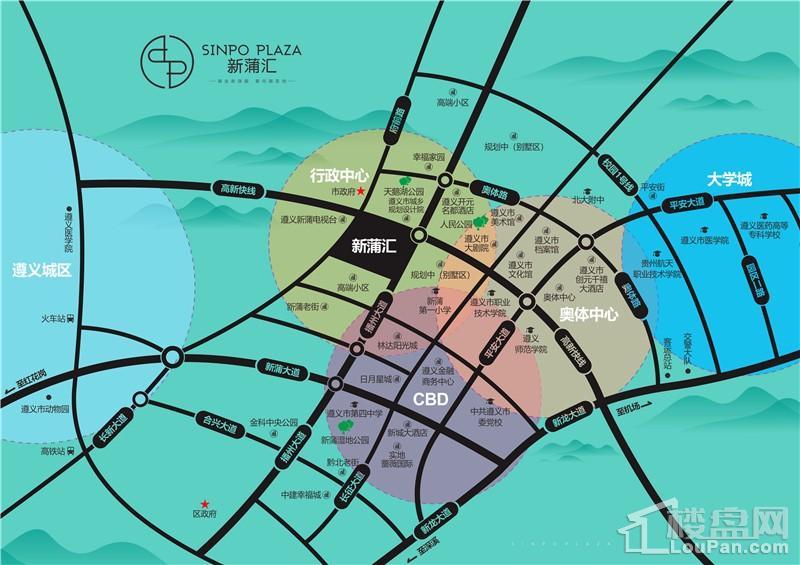 新蒲汇购物中心位置图