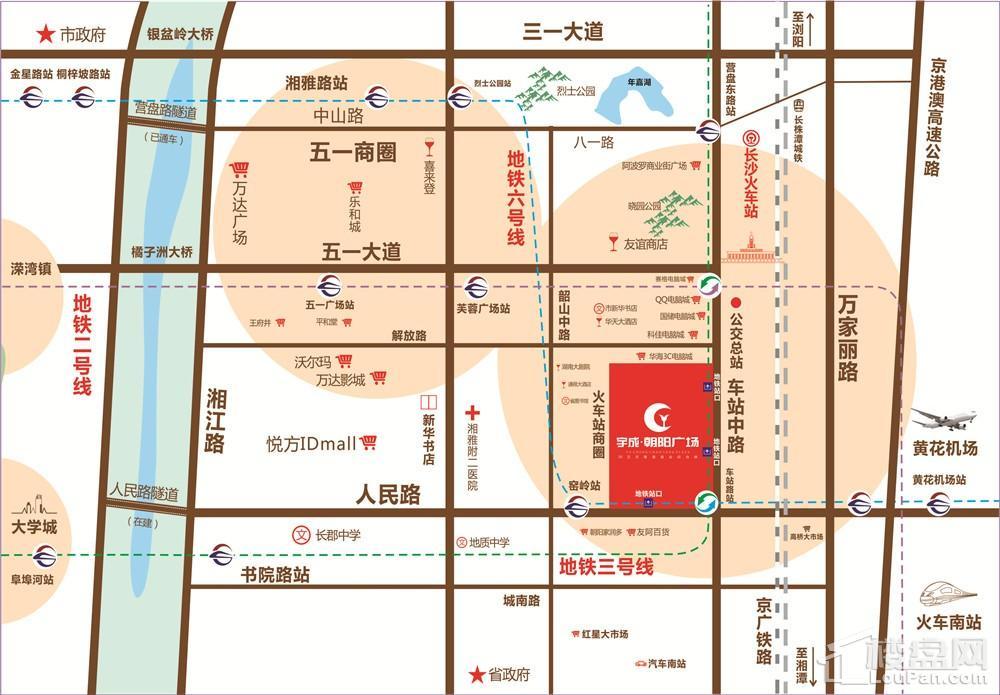 宇成朝阳广场位置图