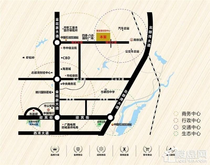荟金·亚太经贸中心位置图