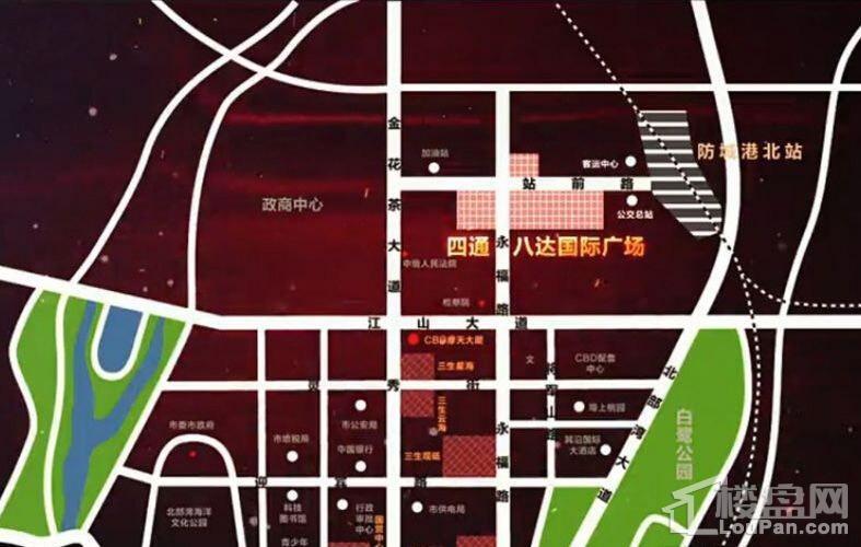 四通八达国际广场位置图