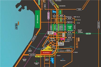 蓝光天娇城位置图