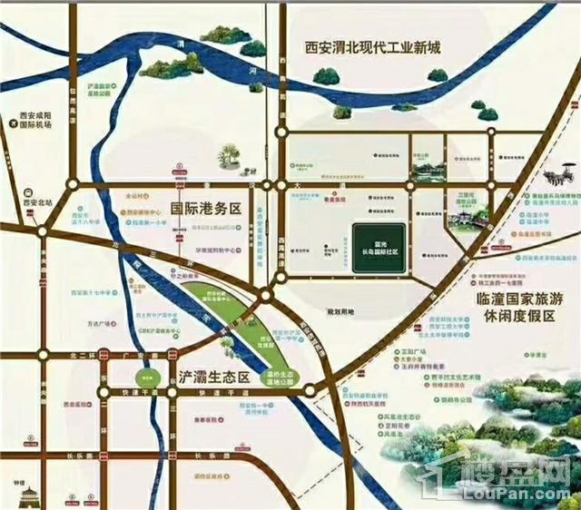 西安蓝光长岛国际社区位置图