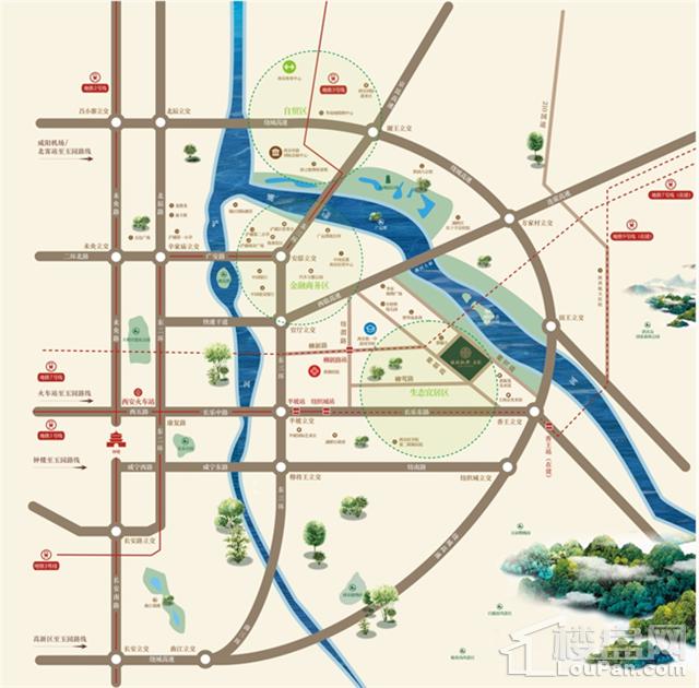 绿城新兴玉园位置图