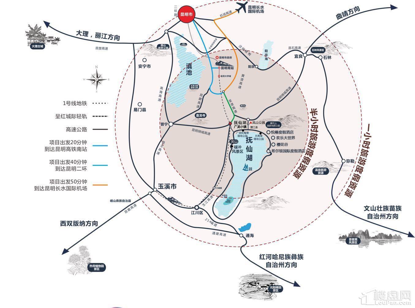 抚仙湖·广龙小镇位置图