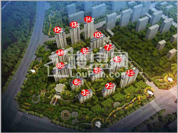 邯郸梦湖孔雀城高清图