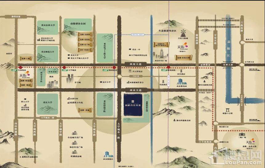 龙湖·西宸原著位置图