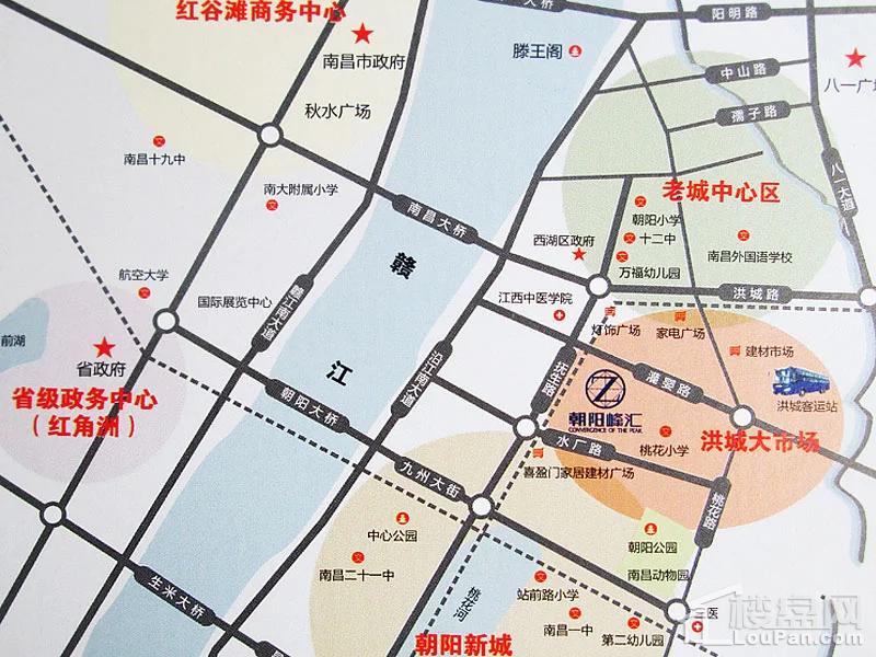 朝阳峰汇位置图