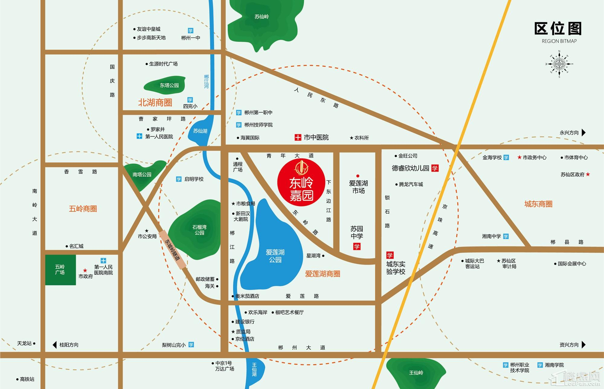 东岭嘉园区位图