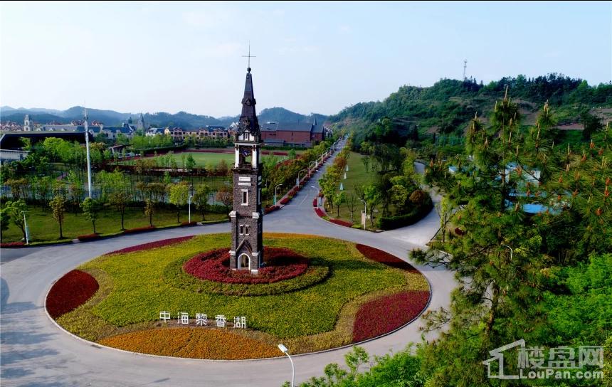 中海黎香湖实景图