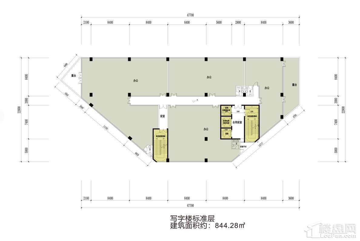 中京1号写字楼户型
