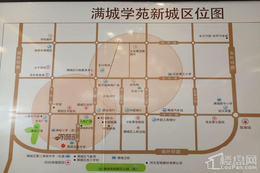 学苑新城位置图