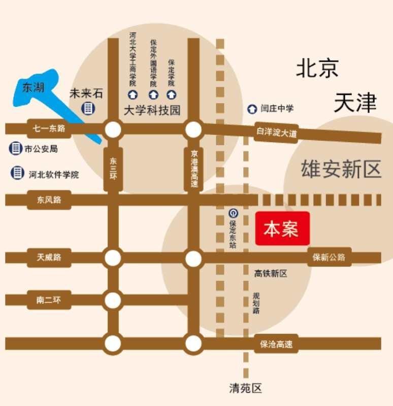 东城首府位置图