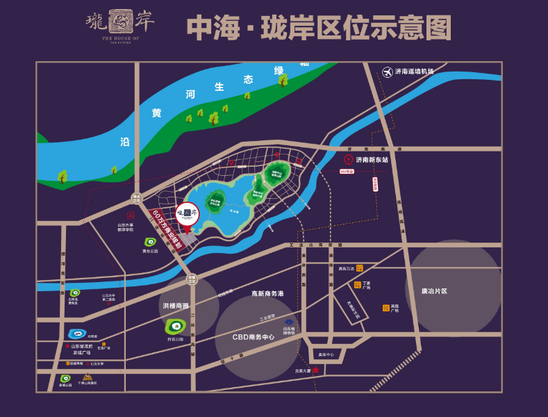 中海·珑岸位置图