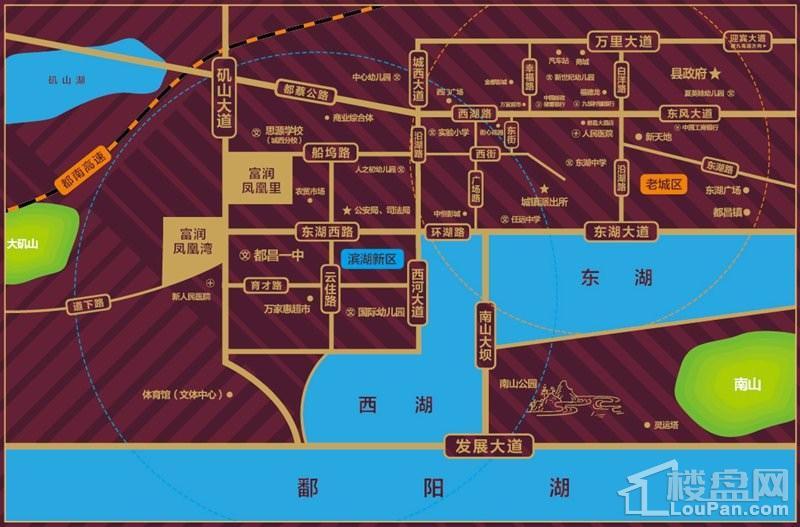 富润城位置图