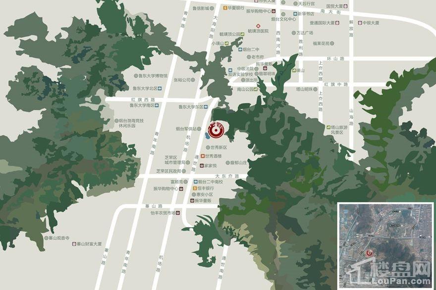 明珠山庄位置图